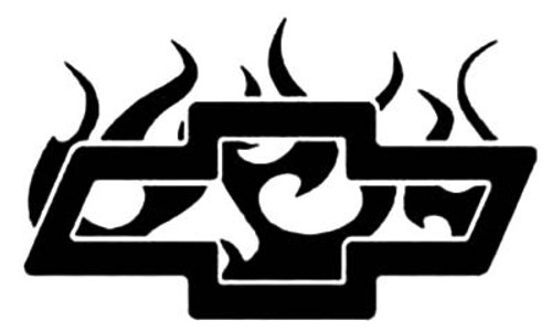 Chevy Chevrolet Flaming Flames Decal