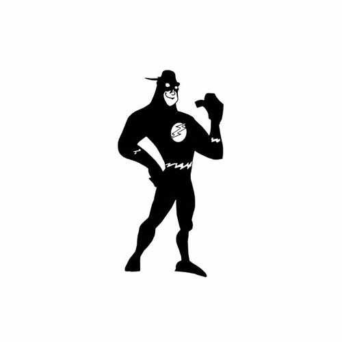Flash Superhero Toon  Vinyl Decal Sticker  Size option will determine the size from the longest side Industry standard high performance calendared vinyl film Cut from Oracle 651 2.5 mil Outdoor durability is 7 years Glossy surface finish