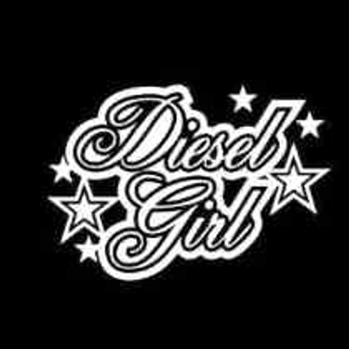 Diesel Girl Diesel  Decal High glossy, premium 3 mill vinyl, with a life span of 5 - 7 years!
