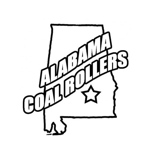 Alabama Coal Rollers  Vinyl Decal High glossy, premium 3 mill vinyl, with a life span of 5 - 7 years!