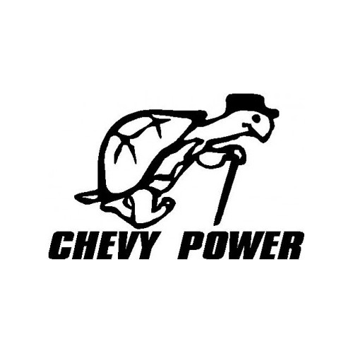 Chevy Power  Vinyl Decal High glossy, premium 3 mill vinyl, with a life span of 5 - 7 years!