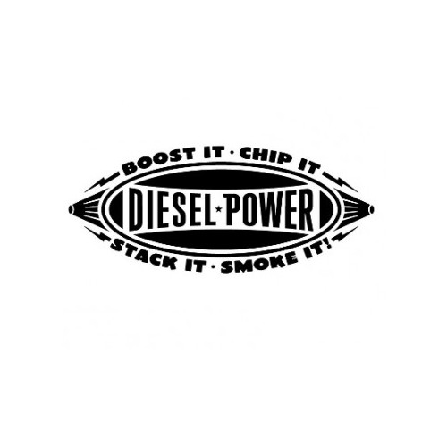 Diesel Power  Vinyl Decal High glossy, premium 3 mill vinyl, with a life span of 5 - 7 years!