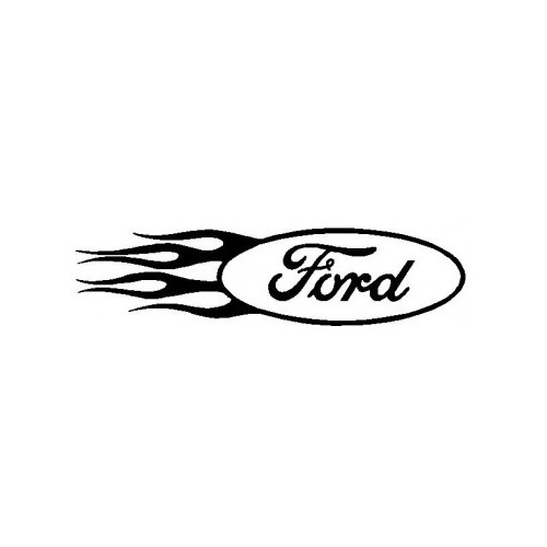Ford Flames  Vinyl Decal High glossy, premium 3 mill vinyl, with a life span of 5 - 7 years!