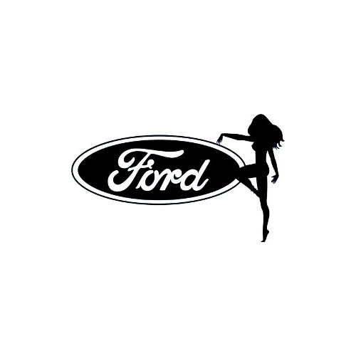 Ford Sexy Truck Girl  Vinyl Decal High glossy, premium 3 mill vinyl, with a life span of 5 - 7 years!