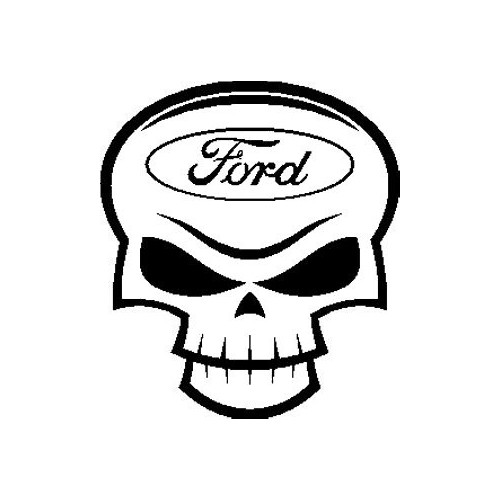 Ford Skull  Vinyl Decal High glossy, premium 3 mill vinyl, with a life span of 5 - 7 years!