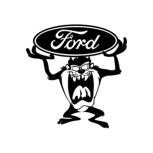 Ford Taz  Vinyl Decal High glossy, premium 3 mill vinyl, with a life span of 5 - 7 years!