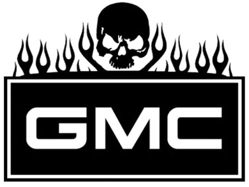 GMC Flames And Skull