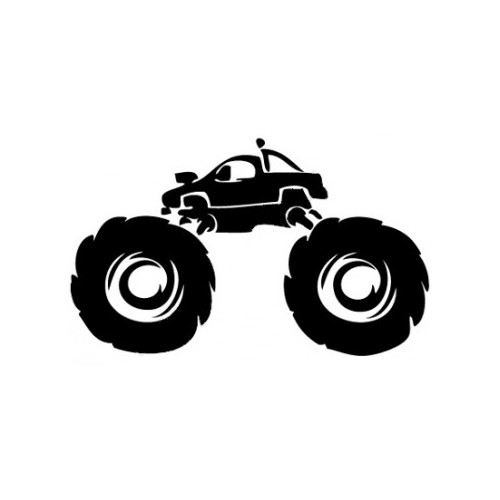 Monster Truck Offroad  Vinyl Decal High glossy, premium 3 mill vinyl, with a life span of 5 - 7 years!