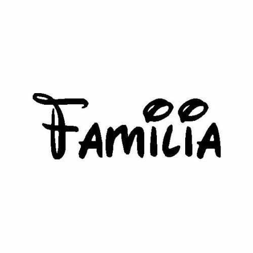 Familia  ._2 Vinyl Decal Sticker  Size option will determine the size from the longest side Industry standard high performance calendared vinyl film Cut from Oracle 651 2.5 mil Outdoor durability is 7 years Glossy surface finish