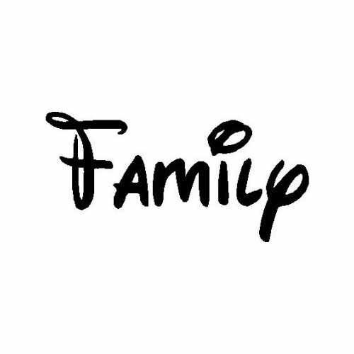 Familia  Vinyl Decal Sticker  Size option will determine the size from the longest side Industry standard high performance calendared vinyl film Cut from Oracle 651 2.5 mil Outdoor durability is 7 years Glossy surface finish