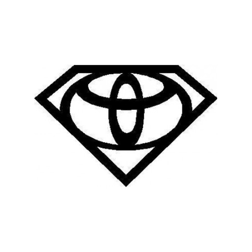 Super Toyota  Vinyl Decal High glossy, premium 3 mill vinyl, with a life span of 5 - 7 years!