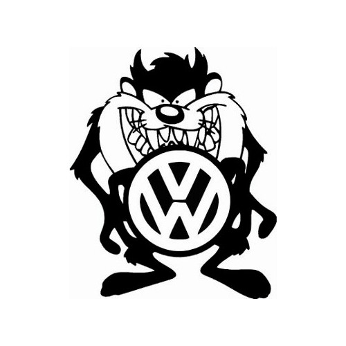 VW Taz Vinyl Decal High glossy, premium 3 mill vinyl, with a life span of 5 - 7 years!