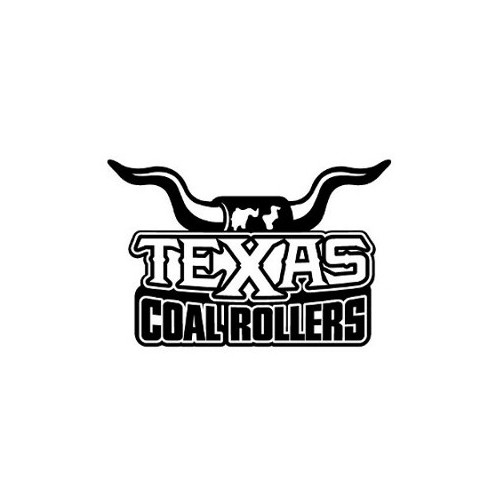 Texas Longhorn Coal Rollers  Vinyl Decal High glossy, premium 3 mill vinyl, with a life span of 5 - 7 years!