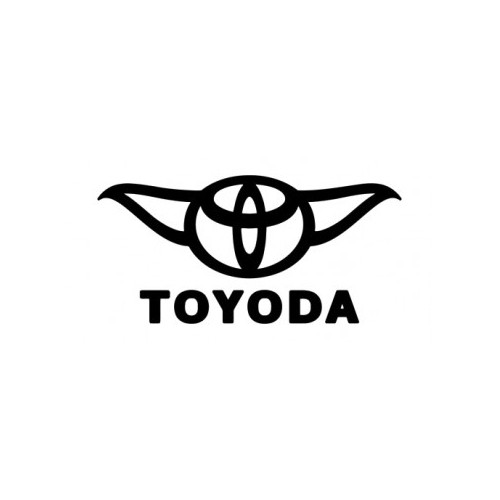 Toyoda  Vinyl Decal High glossy, premium 3 mill vinyl, with a life span of 5 - 7 years!
