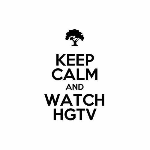 Keep Calm And Watch Hgtv Vinyl Decal Sticker Size option will determine the size from the longest side Industry standard high performance calendared vinyl film Cut from Oracle 651 2.5 mil Outdoor durability is 7 years Glossy surface finish