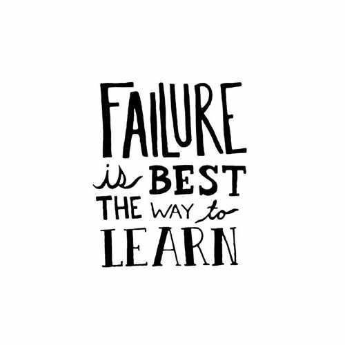 Failure Is The Best Way To Learn  Vinyl Decal Sticker  Size option will determine the size from the longest side Industry standard high performance calendared vinyl film Cut from Oracle 651 2.5 mil Outdoor durability is 7 years Glossy surface finish