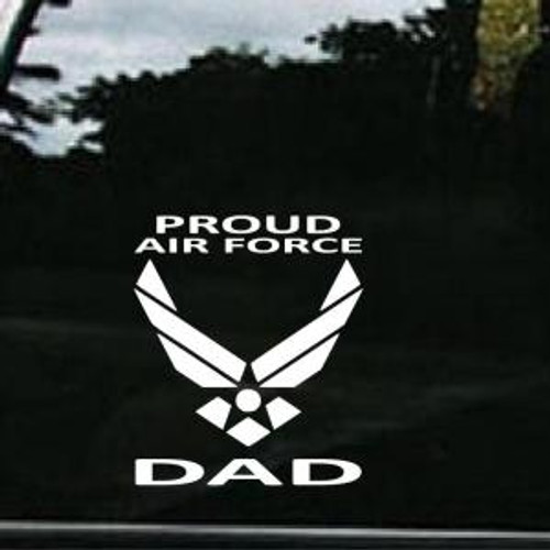 Air Force Proud Dad  Decal High glossy, premium 3 mill vinyl, with a life span of 5 - 7 years!