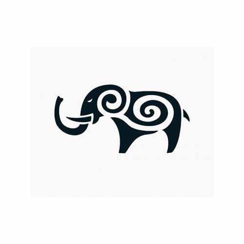 Elephant Trunk Up  Vinyl Decal Sticker  Size option will determine the size from the longest side Industry standard high performance calendared vinyl film Cut from Oracle 651 2.5 mil Outdoor durability is 7 years Glossy surface finish
