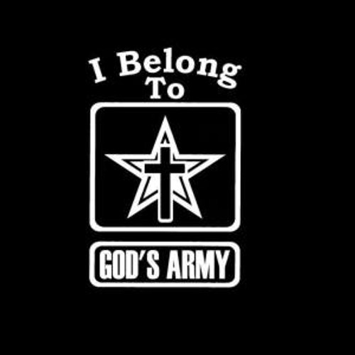Gods Army  Decal High glossy, premium 3 mill vinyl, with a life span of 5 - 7 years!