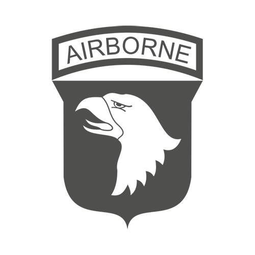 101st Airborne Division Vinyl Logo Decal High glossy, premium 3 mill vinyl, with a life span of 5 - 7 years!