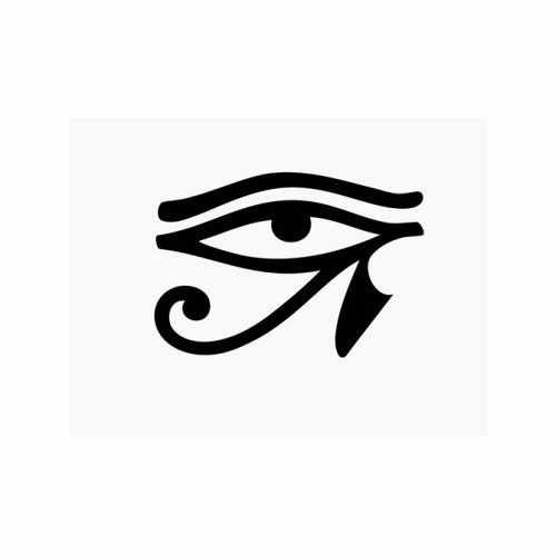 Egyptian Hieroglyphic Eye Of Horus  Vinyl Decal Sticker  Size option will determine the size from the longest side Industry standard high performance calendared vinyl film Cut from Oracle 651 2.5 mil Outdoor durability is 7 years Glossy surface finish