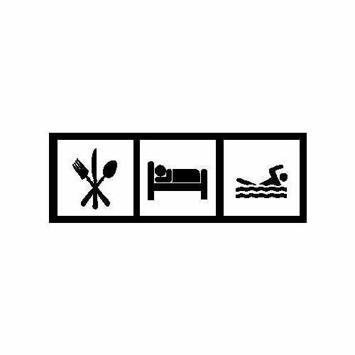 Eat Sleep Swim  Vinyl Decal Sticker  Size option will determine the size from the longest side Industry standard high performance calendared vinyl film Cut from Oracle 651 2.5 mil Outdoor durability is 7 years Glossy surface finish
