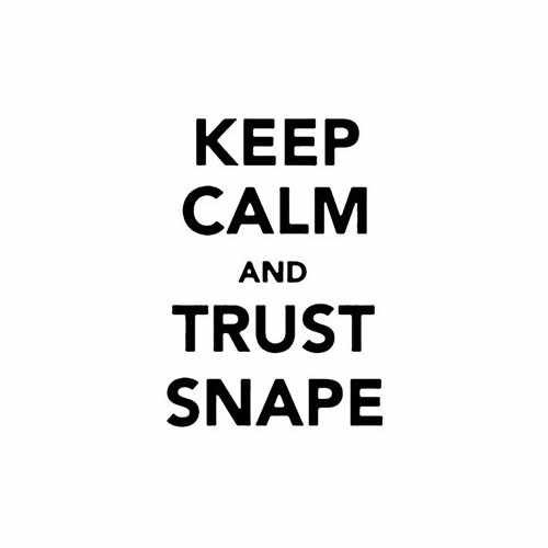 Keep Calm And Trust Snape Vinyl Decal Sticker Size option will determine the size from the longest side Industry standard high performance calendared vinyl film Cut from Oracle 651 2.5 mil Outdoor durability is 7 years Glossy surface finish