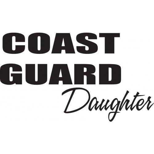 Coast Guard    Vinyl Decal High glossy, premium 3 mill vinyl, with a life span of 5 - 7 years!