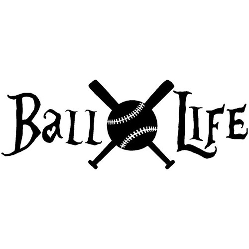 BaseBall Life Vinyl Decal Sticker High glossy, premium 3 mill vinyl, with a life span of 5 - 7 years!