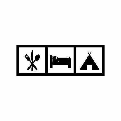 Eat Sleep Camp  Vinyl Decal Sticker  Size option will determine the size from the longest side Industry standard high performance calendared vinyl film Cut from Oracle 651 2.5 mil Outdoor durability is 7 years Glossy surface finish