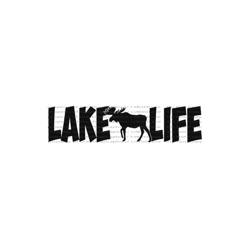 Lake Life Moose    Northern LakesVinyl Decal High glossy, premium 3 mill vinyl, with a life span of 5 - 7 years!