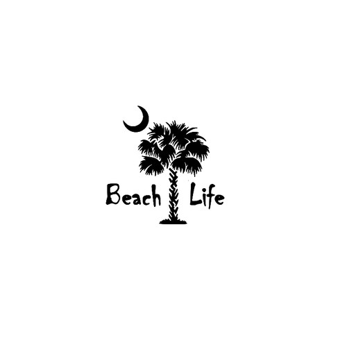 Beach Life  Vinyl Decal High glossy, premium 3 mill vinyl, with a life span of 5 - 7 years!