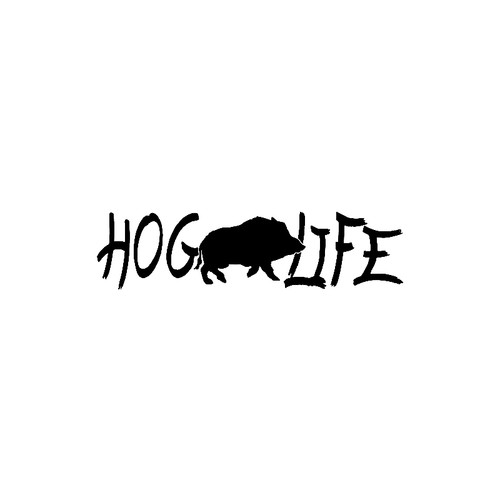 Hog Life  - B with HogVinyl Decal High glossy, premium 3 mill vinyl, with a life span of 5 - 7 years!