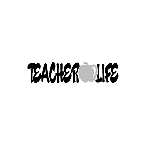 Teacher Life with apple Teaching    EducatorVinyl Decal High glossy, premium 3 mill vinyl, with a life span of 5 - 7 years!
