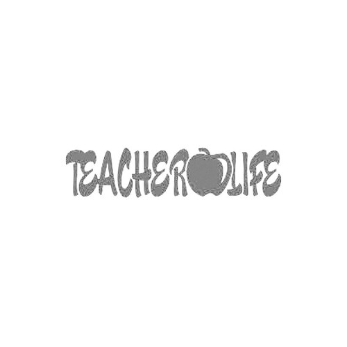 Teacher Life apple Teaching    for  EducatorVinyl Decal High glossy, premium 3 mill vinyl, with a life span of 5 - 7 years!