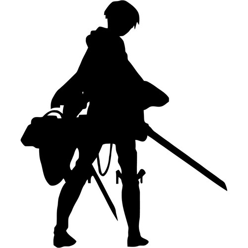 Attack on Titan Levi Silhouette Vinyl Decal <div> High glossy, premium 3 mill vinyl, with a life span of 5 – 7 years! </div>