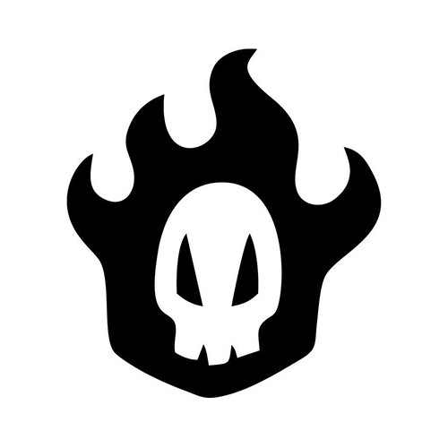 Bleach Rukia Skull Vinyl Decal <div> High glossy, premium 3 mill vinyl, with a life span of 5 – 7 years! </div>