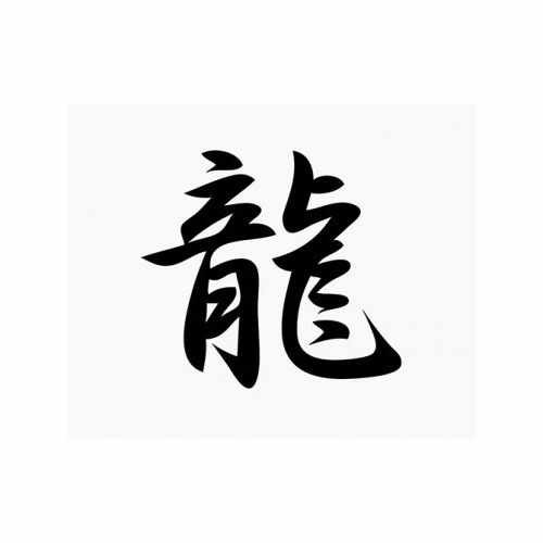 Dragon Chinese Kanji  Vinyl Decal Sticker  Size option will determine the size from the longest side Industry standard high performance calendared vinyl film Cut from Oracle 651 2.5 mil Outdoor durability is 7 years Glossy surface finish