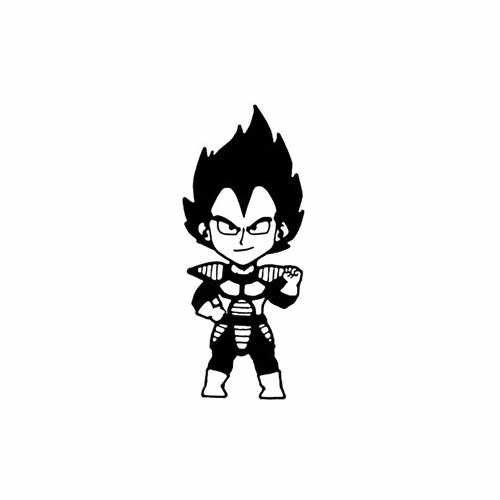 Dragon Ball Z; Baby Vegeta  Vinyl Decal Sticker  Size option will determine the size from the longest side Industry standard high performance calendared vinyl film Cut from Oracle 651 2.5 mil Outdoor durability is 7 years Glossy surface finish