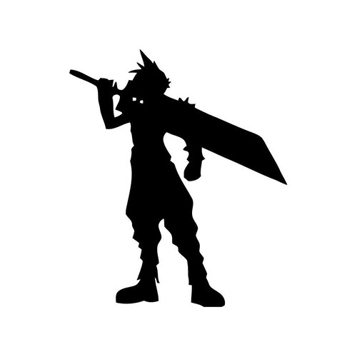 Final Fantasy Cloud Sword  Vinyl Decal <div> High glossy, premium 3 mill vinyl, with a life span of 5 – 7 years! </div>