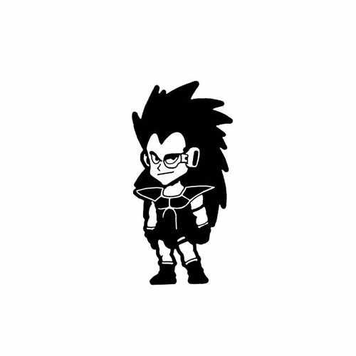 Dragon Ball Z; Baby Radditz  Vinyl Decal Sticker  Size option will determine the size from the longest side Industry standard high performance calendared vinyl film Cut from Oracle 651 2.5 mil Outdoor durability is 7 years Glossy surface finish