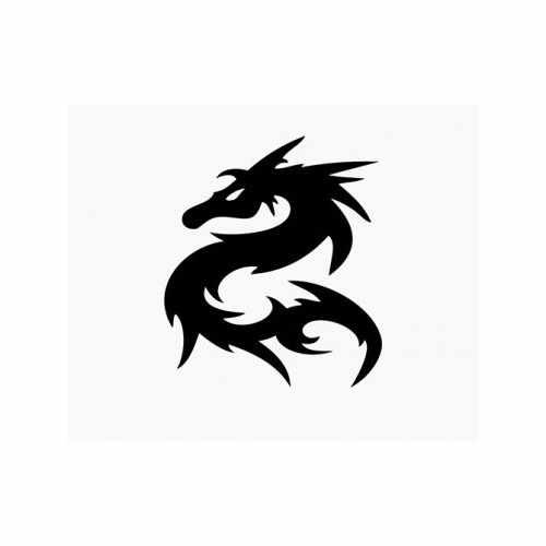 Dragon  Vinyl Decal Sticker  Size option will determine the size from the longest side Industry standard high performance calendared vinyl film Cut from Oracle 651 2.5 mil Outdoor durability is 7 years Glossy surface finish