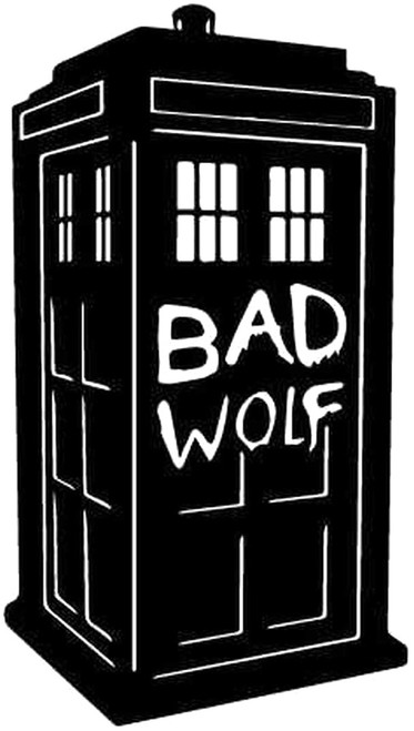Dr. Who Tardis Bad Wolf