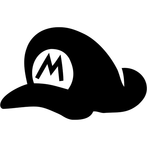 Mario Hat  Vinyl Decal <div> High glossy, premium 3 mill vinyl, with a life span of 5 – 7 years! </div>