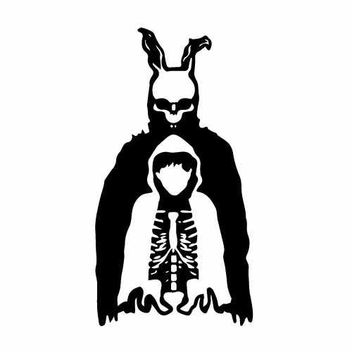 Donnie Darko Watch Over Vinyl Decal Sticker  Size option will determine the size from the longest side Industry standard high performance calendared vinyl film Cut from Oracle 651 2.5 mil Outdoor durability is 7 years Glossy surface finish