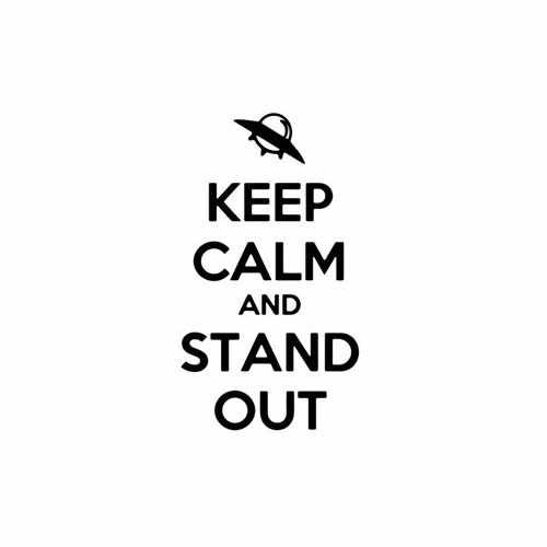 Keep Calm And Stand Out Vinyl Decal Sticker Size option will determine the size from the longest side Industry standard high performance calendared vinyl film Cut from Oracle 651 2.5 mil Outdoor durability is 7 years Glossy surface finish