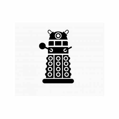 Doctor Who Dalek  Vinyl Decal Sticker  Size option will determine the size from the longest side Industry standard high performance calendared vinyl film Cut from Oracle 651 2.5 mil Outdoor durability is 7 years Glossy surface finish
