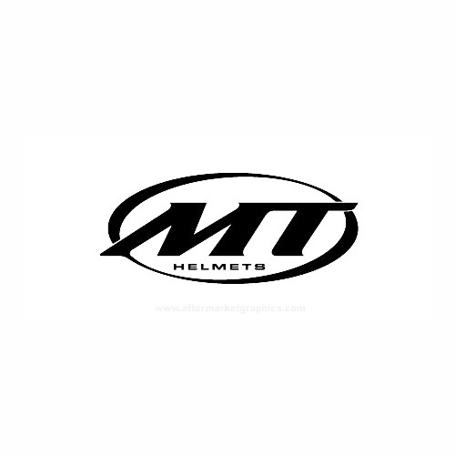 MT Helmets Motorcycle Vinyl Decal Set High glossy, premium 3 mill vinyl, with a life span of 5 - 7 years!