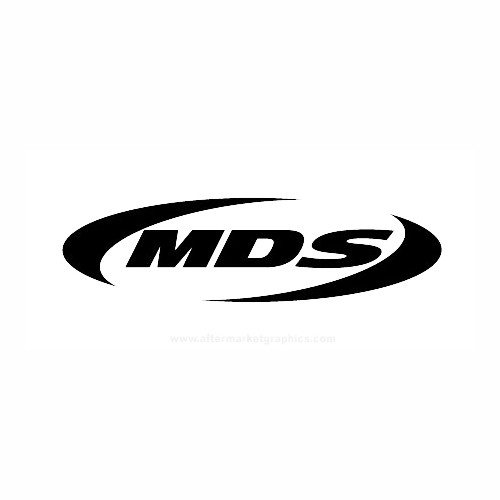 MDS Helmets Motorcycle Vinyl Decal Set High glossy, premium 3 mill vinyl, with a life span of 5 - 7 years!