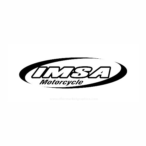 IMSA Motorcycle Vinyl Decal Set High glossy, premium 3 mill vinyl, with a life span of 5 - 7 years!